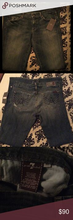 NWT 7FAMK A Pocket Flare size 30 NWT 7 FAMK A Pocket Flare Jeans                Size 30  341/2 inseam 7 For All Mankind Jeans Flare & Wide Leg