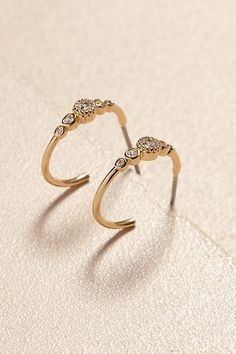 Stella Hoop Earrings | Anthropologie