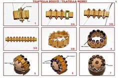 "Ewa gyöngyös világa!: Picture tute of beaded bead with tila ""belt"".~ Seed Bead Tutorials"