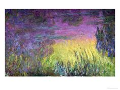 Waterlilies at Sunset, 1915-26 Giclee Print @ http://www.allposters.com/-sp/Waterlilies-at-Sunset-1915-26-Posters_i1344056_.htm