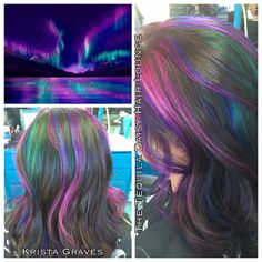 #joico color intensities. Aurora Borealis inspired hair color  #tequiladaisy