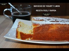 BIZCOCHO FACIL de YOGUR y Limón - Rápido, Fácil y Húmedo (RECETA INFALIBLE)¡¡** - YouTube Lemon Desserts, Banana Bread, Cupcake Cakes, French Toast, Cheesecake, Make It Yourself, Baking, Breakfast, Recipes