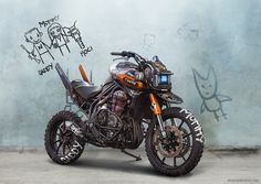 Post with 0 votes and 821 views. Chappie inspired Triumph Explorer motorcycle by Tamás Jakus Scrambler Motorcycle, Moto Bike, Motorcycle Design, Motorcycle Bike, Bike Design, Motorcycle Quotes, Triumph Motorcycles, Custom Motorcycles, Custom Bikes