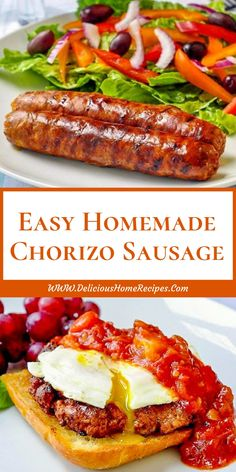 Easy Homemade Chorizo Sausage — Lower Salt & No Preservatives! Some freshly ground pork and some common ingredients and readily available spices is all you'll need to make this incredibly flavourful homemade spicy chorizo sausage. Homemade Chorizo, Homemade Sausage Recipes, Pork Recipes, Mexican Food Recipes, Dog Food Recipes, Cooking Recipes, Homemade Breads, Homemade Sushi, Sushi Recipes