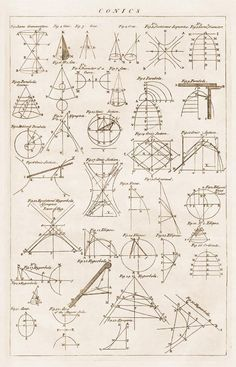 Old Drawing. Illustrations to Geometry. Engraving #D3