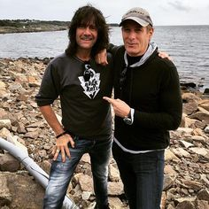 Michael and Robert Wells in Varberg, Sweden on 27th July, 2016 for first show in. Rhapsody In Rock summer series of shows in Sweden.