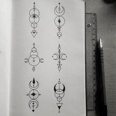 #geometry #minimalism #illustrations #geometrictattoos #linework #blackwork
