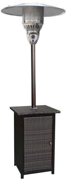 7-Ft. Square Wicker Propane Patio Heater