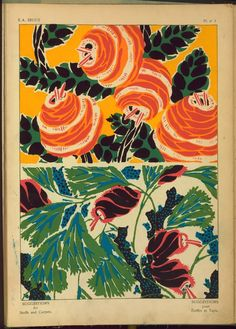 [Two floral designs.] From New York Public Library Digital Collections.