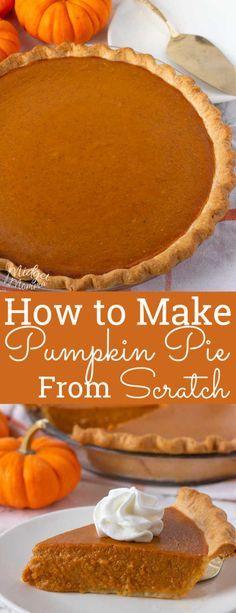 Fresh Pumpkin Pie, Pumpkin Pie From Scratch, Best Pumpkin Pie Recipe, Perfect Pumpkin Pie, Homemade Pumpkin Puree, Vegan Pumpkin Pie, Pumpkin Dessert, Pumpkin Pie Filling Recipe Easy, Pumpkin Pie From Pumpkins