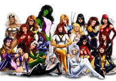 marvel comics female characters