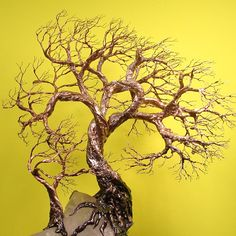 Wire Tree Of Life Duo Wind Spirits sculpture by CrowsFeathers, sold
