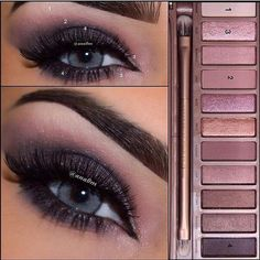 لوك من باليت نيكد٣ ❤️❤️❤️❤️❤️❤️❤️ #نيكد٣ #ميكاب #ايشادو #naked3 #eyeshadow