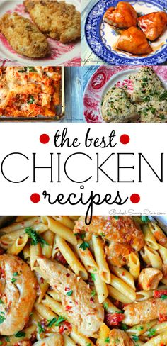 The BEST Chicken Recipes Roundup! Perfect for dinner tonight. Easy Dinner Recipe
