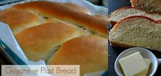 Guyanese Plait Bread - Plait bread is a type of braided bread (plait, meaning to braid or interweave) and is the most popular and frequently consumed. Bread Plait, Braided Bread, Indian Food Recipes, Gourmet Recipes, Cooking Recipes, Bread Recipes, Guyanese Recipes, Guyanese Bread Recipe, Roti Recipe