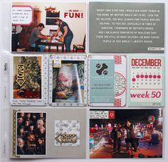 December #scrapbook #fun #christmas #lights #week #50 #layout #project #life
