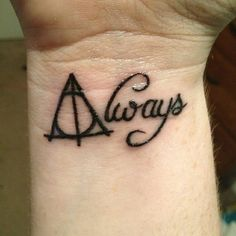 20 Awesome Minimalist Harry Potter Tattoos