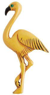 Creamed corn color Bakelite flamingo.