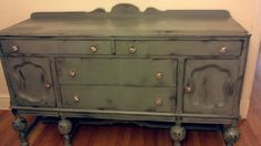 ReLoved and UpCycled Distressed Shabby Chic Buffet - Credenza - Server