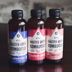 I thought the Sparkling Probiotic @kevitadrinks were good, but I am even more impressed with their new Master Brew Kombucha! The Lavender Melon is probably my favorite out of these three. @anotherhungryvegan