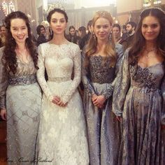 Love Reign as a series but I love their fashion even more! Mary and her ladies, the royal wedding #reign