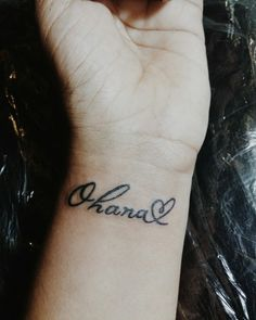 """Ohana means family, and family means nobody gets left behind or forgotten"" #Tattoo #TattooGirl #Ohana #OhanaTattoo"