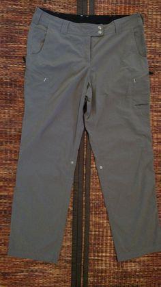 Exofficio Nomad Roll Up Pants Women's Size 12 Slate Hiking Backpacking #ExOfficio #pants