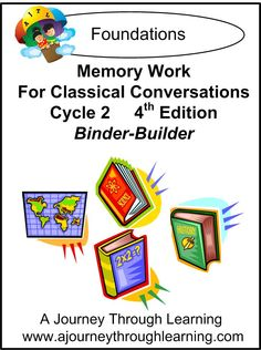 Memory Work for Classical Conversations Cycle 2 Lapbook Binder-Builder - has notebooking pages for history and science, and minibooks for Latin, English, and some of math. Do your own maps.