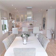 Top Home Interior Design Kitchen Room Design, Dining Room Design, Home Decor Kitchen, Kitchen Interior, Home Interior Design, Home Kitchens, Dining Rooms, Dining Table, Küchen Design
