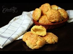 Cheese Puffs - Gougères - light and fluffy appetizer, big hole inside, intense cheese taste. They are amazingly delicious and will literally be gone in seconds. Homemade Cheese Sticks, Simply Shredded, Appetizer Recipes, Appetizers, Tapas, Roasted Baby Potatoes, Cheese Puffs, Cheese Tasting, Homemade Desserts