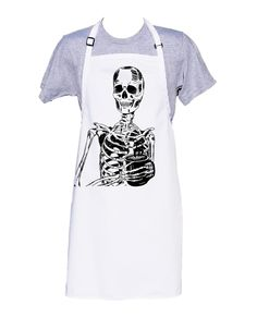 Kitchen Apron - BBQ Apron - Cooks Apron - Funny Apron - Skeleton Apron - Fathers Day - Gifts for Dad - Coffee Drinker - Gift for Best Friend Funny Aprons, Bbq Apron, Kitchen Aprons, Coffee Drinkers, Best Friend Gifts, Fathers, Skeleton, How To Draw Hands, Printed