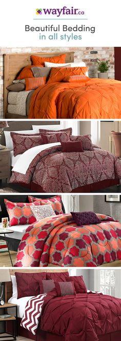 Looking to upgrade your bedroom to sanctuary-status and stay on budget? Make your bedroom pop with our cozy collection of bedding sets! From thread count to material and style, we have plush picks for every need. Get access to exclusive deals at up to 70% OFF and enjoy FREE SHIPPING on all orders over $75 at Wayfair! Sign up and shop now!
