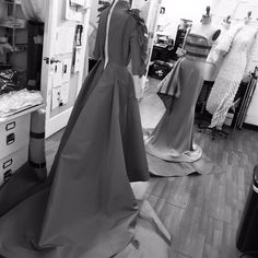 Gown draping in the studio today! Happy Friday!! #zacposen