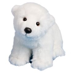 Marshmallow the Polar Bear has an ultra soft white coat and a cute and cuddly face. Handsome, realistic and cuddly! Machine washable. Dimensions: L 15 inches. M