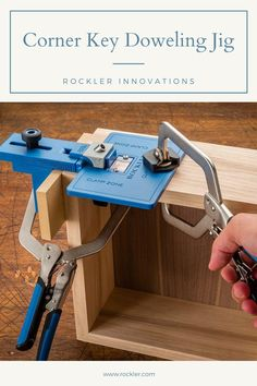 Beautify and strengthen mitered joints using hardwood dowels and other materials! For use on all projects involving dowels, including the Rockler Speaker Kit with Corner Dowels.  #dowelingjig #rocklerdowelingjig #rocklerinnovations #cornerkeyjig #speakerkittools Woodworking Hand Tools, Woodworking Crafts, Woodworking Projects, Speaker Kits, Box Joints, Kreg Jig, Stamping Tools, Metal Shop, Wood Plans