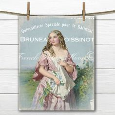 Vintage Digital French Romance Digital by FrenchPaperMoon on Etsy