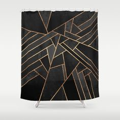 Art Deco Shower curtain. Same design is available as a framed art print, pilow, and as a rug