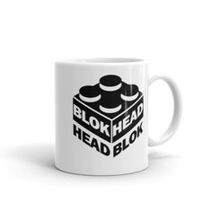 Blokhead - Mug. Whether you're drinking your morning coffee, your evening tea, or something in between – this mug's for you! It's sturdy and glossy with a vivid Morning Coffee, Drinking, Cups, Make It Yourself, Tea, Tableware, Shop, Beverage, Mugs