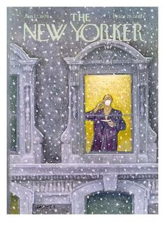 The New Yorker Cover - January 12, 1976 Giclee Print by Charles Saxon at Art.com