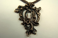 Victorian Key Hole Necklace Pendant  Ornate By Gwendelicious. Want!