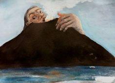 "Saatchi Art Artist Michael Hayter; Painting, ""Volcano"" #art"