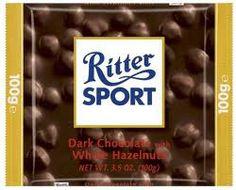 Ritter Sport, Dark Chocolate with Whole Hazelnuts, Bars (Pack of Ritter Sport, Chocolate Brands, Chocolate Hazelnut, Gourmet Recipes, Sports, Interesting Stuff, Foods, Dark, Products