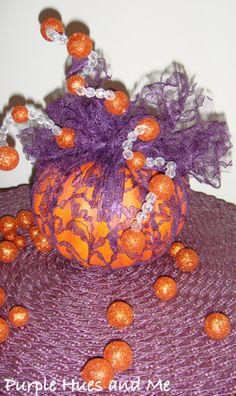 Whimsical Purple Lace Pumpkin