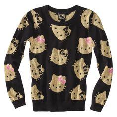 Hello Kitty Girls' Long-Sleeve Sweater - Black Basin