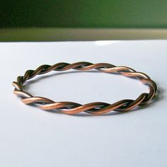 This copper bangle was a challenge to make, but it's one of my favourites to wear.
