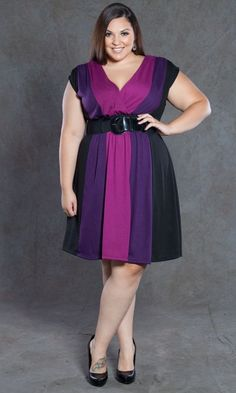 plus size color block sweater dress at www.curvaliciousclothes.com