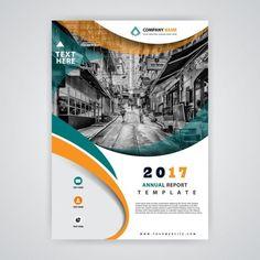 Business brochure for 2017 Free Vector Brochure Layout, Flyer Layout, Brochure Design, Web Design, Book Design, Flyer Design, Report Layout, Company Profile Design, Magazine Layout Design