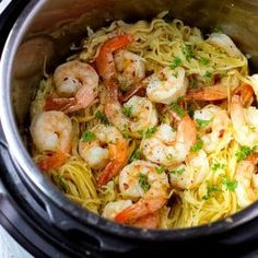 Instant Pot Shrimp Scampi with angel hair pasta, cooked in a fragrant shallot-wine broth, topped with capers and fresh parsley! Instant Pot Shrimp Scampi with angel hair pasta, cooked in a fragrant shallot-wine broth, topped with capers and fresh parsley! Instant Pot Pasta Recipe, Best Instant Pot Recipe, Instant Pot Dinner Recipes, Easy Pasta Recipes, Easy Meals, Cooking Recipes, Healthy Recipes, Cooked Shrimp Recipes, Cooking Tools