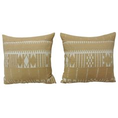Pair of Striped African Pillows | From a unique collection of antique and modern pillows and throws at https://www.1stdibs.com/furniture/more-furniture-collectibles/pillows-throws/