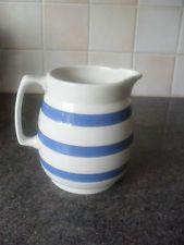 Chefs Ware blue rings milk/custard jug 13.5 cm high